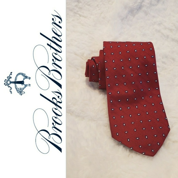 cf06fe2941ab Brooks Brothers Accessories | 346 Classic Red Dotted Oval Tie | Poshmark